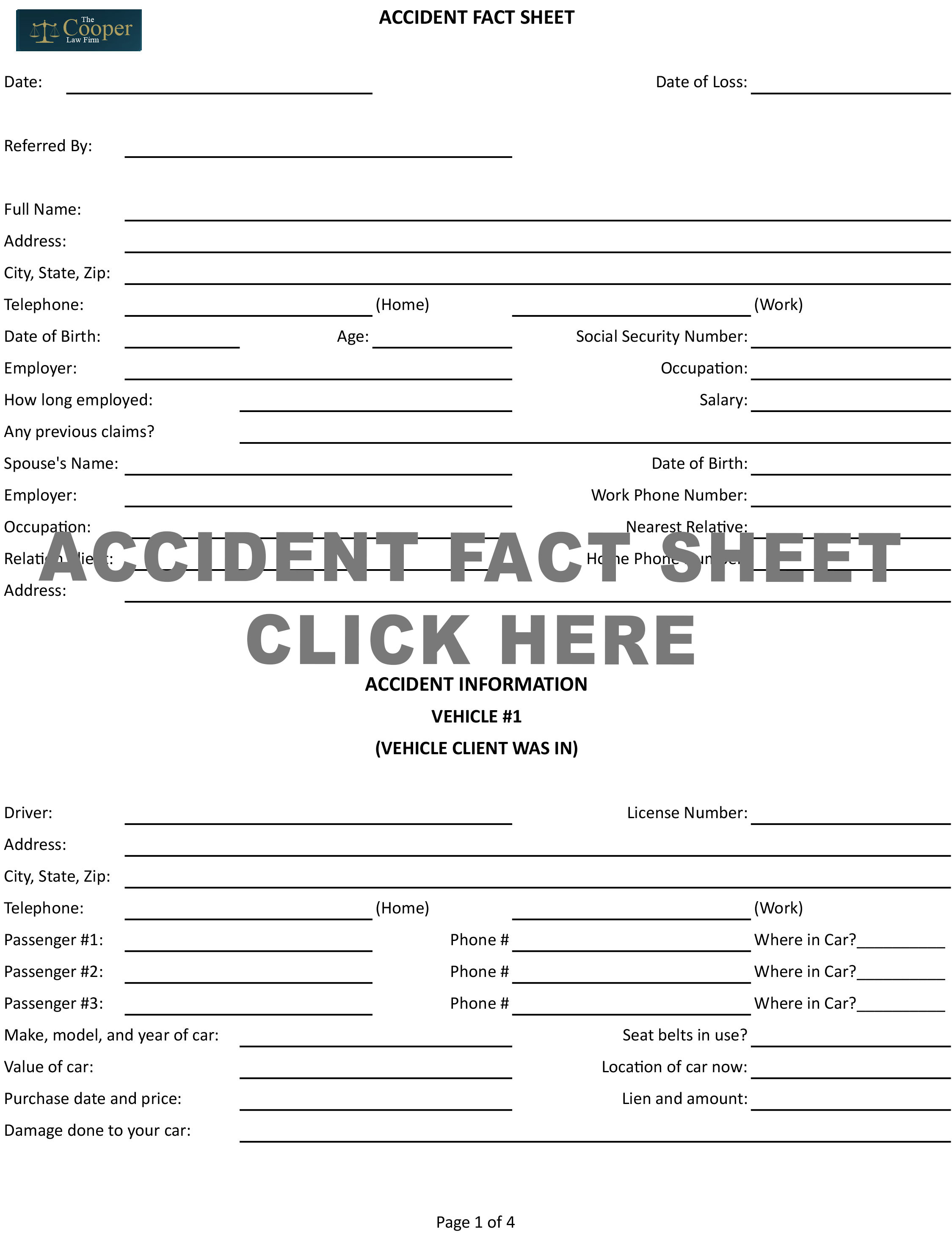 Accident Fact Sheet